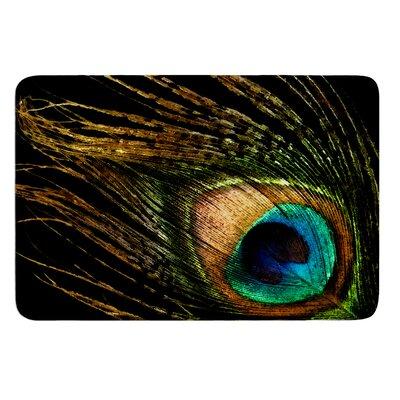 Peacock by Alison Coxon Bath Mat Size: 24 W x 36 L