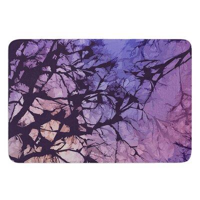 Violet Skies by Alison Coxon Bath Mat Size: 17W x 24L