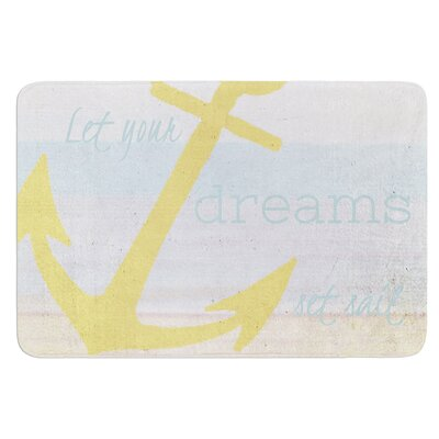 Let Your Dreams Set Sail by Alison Coxon Bath Mat Size: 17W x 24L