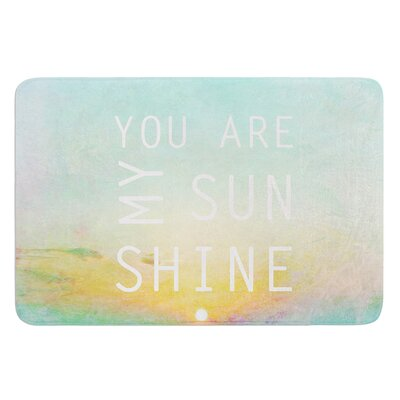 You Are My Sunshine by Alison Coxon Bath Mat Size: 24 W x 36 L