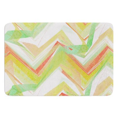 Summer Party Chevron by Alison Coxon Bath Mat Size: 17W x 24L