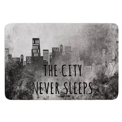The City Never Sleeps by Alison Coxon Bath Mat Size: 17W x 24L