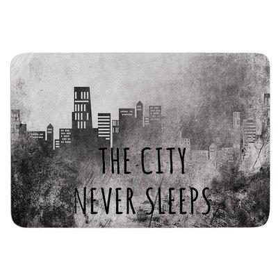 The City Never Sleeps by Alison Coxon Bath Mat Size: 17W x 24L