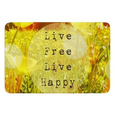 Live Free by Alison Coxon Bath Mat Size: 17W x 24L