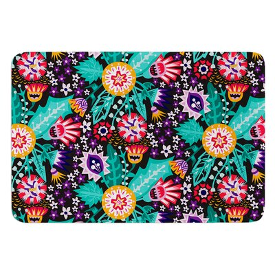 Folk Meadow by Agnes Schugardt Bath Mat Size: 24 W x 36 L