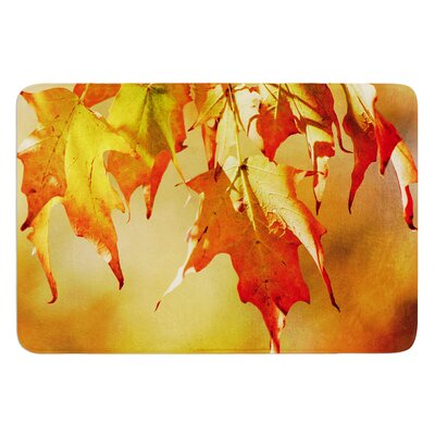 Autumn Leaves by Angie Turner Bath Mat Size: 17W x 24L