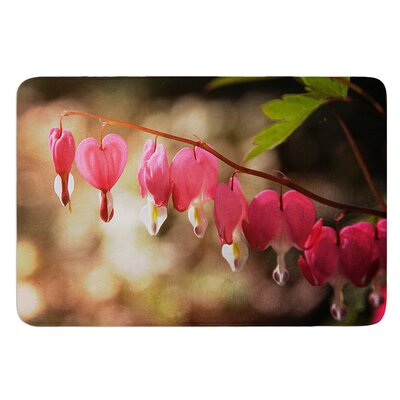 Bleeding Hearts by Angie Turner Bath Mat Size: 24 W x 36 L
