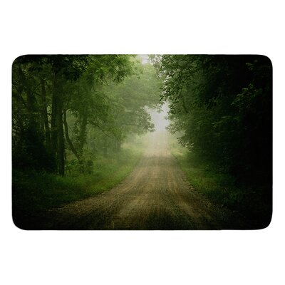 Foggy Road by Angie Turner Bath Mat Size: 17