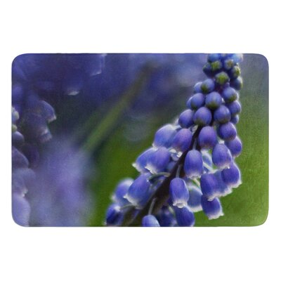 Grape Hyacinth by Angie Turner Bath Mat Size: 17W x 24L