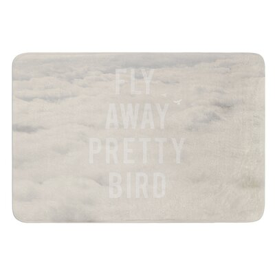 Fly Away Pretty Bird by Catherine McDonald Bath Mat Size: 24 W x 36 L