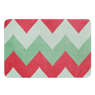 Holiday Chevrons by Catherine McDonald Bath Mat Size: 17W x 24 L