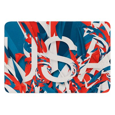 USA by Danny Ivan Bath Mat Size: 17W x 24L