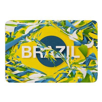 Brazil by Danny Ivan Bath Mat Size: 24 W x 36 L