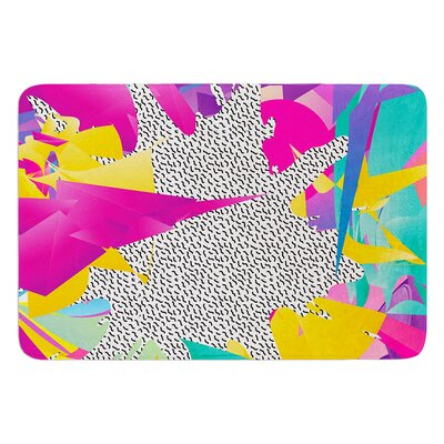 80s Abstract by Danny Ivan Bath Mat Size: 17W x 24L