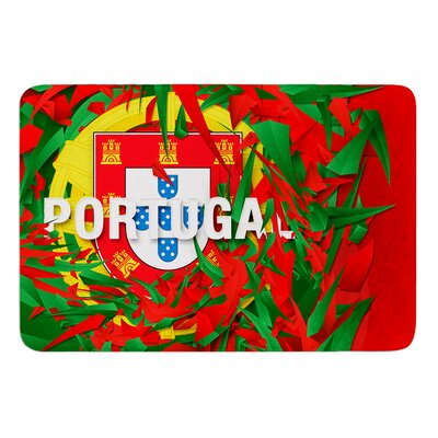 Portugal by Danny Ivan Bath Mat Size: 24 W x 36 L