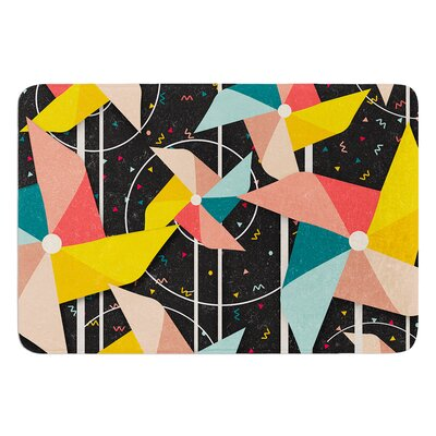Colorful Pinwheels by Danny Ivan Bath Mat Size: 24 W x 36 L