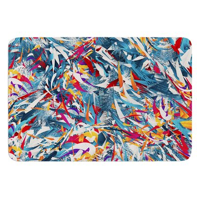 Excited Colours by Danny Ivan Bath Mat Size: 24 W x 36 L