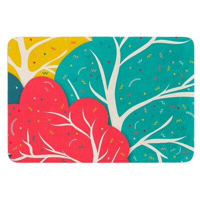 Happy Forest by Danny Ivan Bath Mat Size: 17W x 24L
