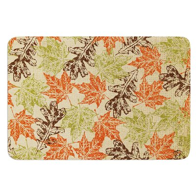 Leaf it to Me by Heidi Jennings Bath Mat Size: 24 W x 36 L
