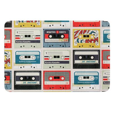 Retro Tape by Heidi Jennings Bath Mat Size: 17W x 24L