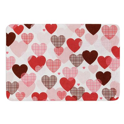 Love by Heidi Jennings Bath Mat Size: 24 W x 36 L