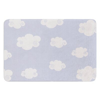 Happy Clouds by Heidi Jennings Bath Mat Size: 17W x 24L