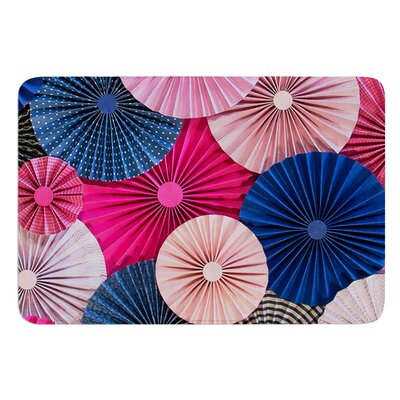 Navy Pink by Heidi Jennings Bath Mat Size: 24 W x 36 L