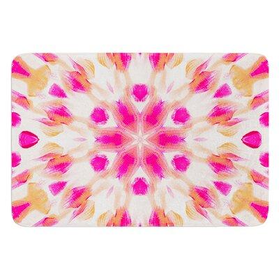 Batik Mandala by Iris Lehnhardt Bath Mat Size: 17W x 24L