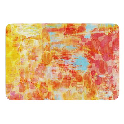 Pastel Jungle by Ebi Emporium Bath Mat Size: 17 W x 24 L