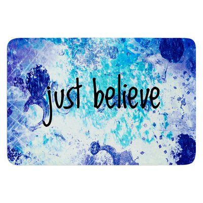 Just Believe by Ebi Emporium Bath Mat Size: 24 W x 36 L