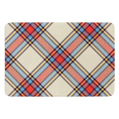 Sunday Brunch Plaid Bath Mat
