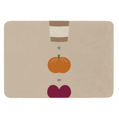 Pumpkin Spice Latte Original Bath Mat