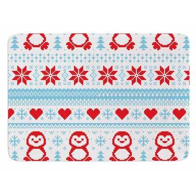 Pixel Penguin Holiday Original Bath Mat