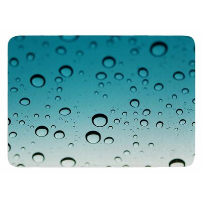 Blue Rain by Kristi Jackson Bath Mat
