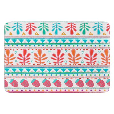 Spring Strawberries by Nika Martinez Bath Mat