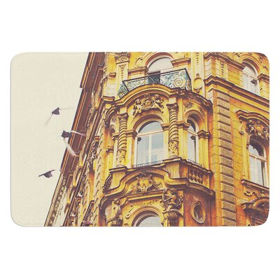 Prague Morning by Ann Barnes Bath Mat Size: 24 W x 36 L