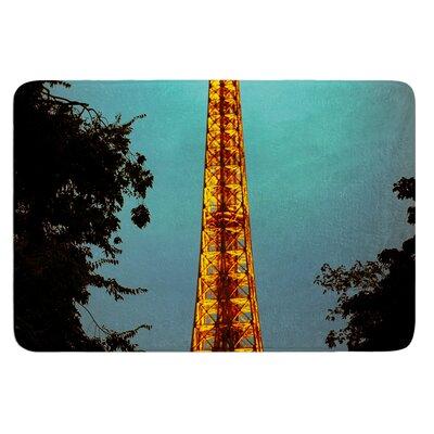 Tour Eiffel by Ann Barnes Bath Mat Size: 24 W x 36 L