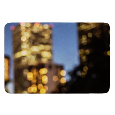Nola at Night by Ann Barnes Bath Mat Size: 24 W x 36 L