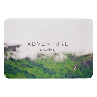 Adventure is Waiting by Ann Barnes Bath Mat Size: 24 W x 36 L