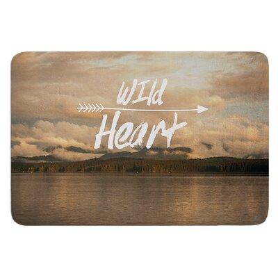 Wild Heart by Ann Barnes Bath Mat Size: 24 W x 36 L