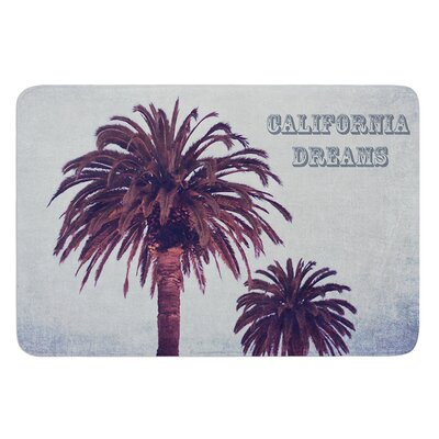 California Dreams by Ann Barnes Bath Mat Size: 17W x 24L