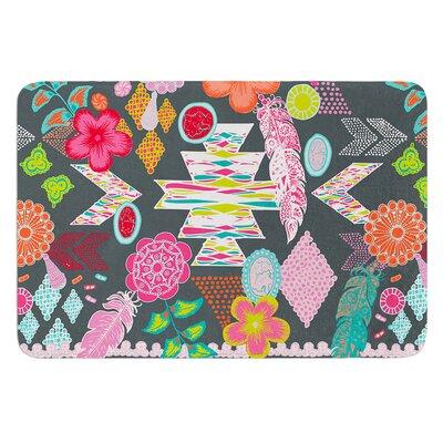 Aztec Boho Tropical by Anneline Sophia Bath Mat Size: 17W x 24L