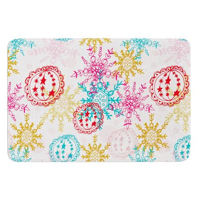 Let It Snow by Anneline Sophia Bath Mat Size: 24 W x 36 L