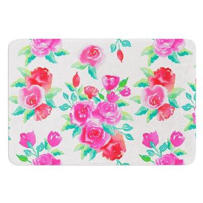 Roses by Anneline Sophia Bath Mat Size: 24 W x 36 L