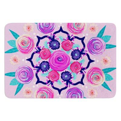 Expressive Blooms Mandala by Anneline Sophia Bath Mat Size: 17W x 24L