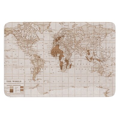 Emerald World by Catherine Holcombe Bath Mat Size: 24 W x 36 L
