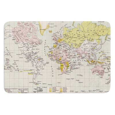 Travel by Catherine Holcombe Bath Mat Size: 17W x 24 L