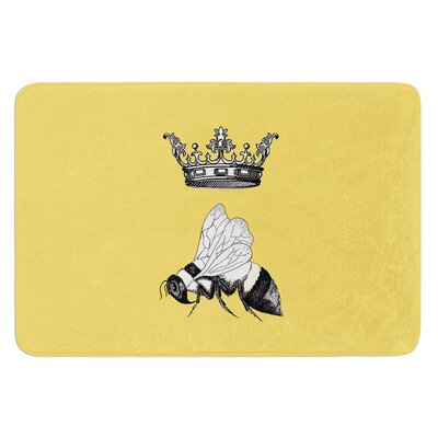 Queen Bee by Catherine Holcombe Bath Mat Size: 17W x 24 L