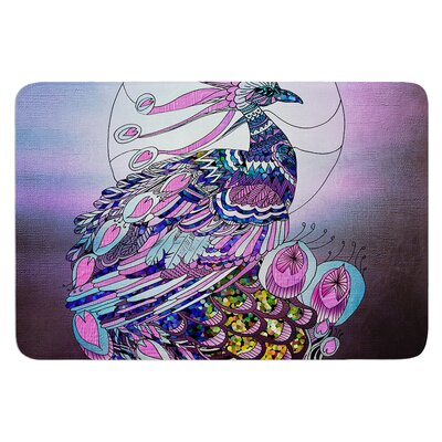 Peacock by Catherine Holcombe Bath Mat Size: 24 W x 36 L