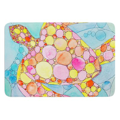 Circle Turtle by Catherine Holcombe Bath Mat Size: 17W x 24 L